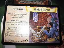 HARRY POTTER TCG CARD CHAMBER OF SECRETS BLOCKED BARRIER 58/140 UNCO MINT EN