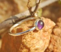 Solid 925 Sterling Silver Ring Delicate Silver Ring Handmade Amethyst Ring sr41