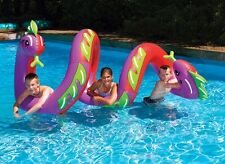 Giant Sea Serpent Pool Float Ride On Swimline Inflatable 2.4m Obstacle Water Fun