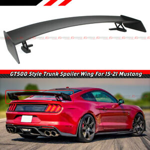 FOR 15-2021 FORD MUSTANG RACING GT500 STYLE BIG TRUNK SPOILER WING METAL STANDS