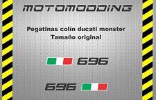 Pegatinas colin ducati monster 696 stickers decals autocollant calcas vinilos