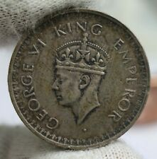 1945-L Half Rupee British India Large 5 Variety KM#552 Silver Coin
