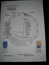 1970-71 FA Charity Shield Chelsea v Everton Matchsheet