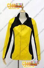 Infamous 2 Cole MacGrath Cosplay Costume Jacket black & yellow