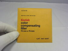 Vintage KODAK color compensating Filter 75mm x 75mm CC05G 6318033