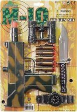 Ejército Commando Fancy Dress Kids Pistola De Juguete Set Cuchillo Binoculares Nueva por Smiffys