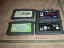 LOT DE 4 JEUX POUR GAME BOY ADVANCE/DS TBE