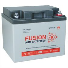 12V 40AH Fusion AGM Deep Cycle AGM Golf Buggy, Mobility Scooter Battery
