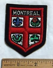 MONTREAL Quebec Canada Coat of Arms Crest Souvenir Sew-on Patch Badge