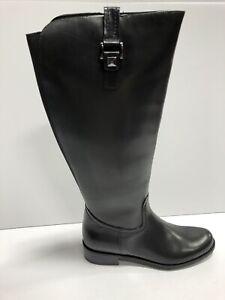 Blondo Velvet Womens Riding Boot Black Leather US8 M
