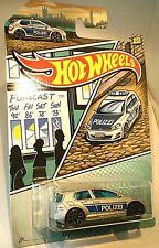 Hot Wheels VW Volkswagen Golf MK7 Polizei Police silver w blue markings mint