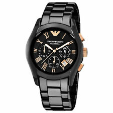 NEW Emporio Armani AR1410 Ceramica Chronograph Black Dial Men's Wrist Watch
