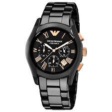 New AR1410 Emporio Armani Ceramica Хронограф черный циферблат мужские наручные часы