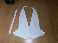 "Men's  White Marcella Adj Waistcoat Evening/Tail suit C/w Buttons Size 40""-42"""