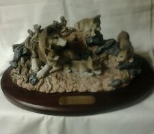 "Living Stone, Inc. Limited Edition ""The Den""A family of Wolves, signed #265"