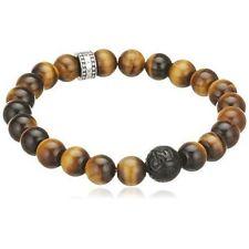Thomas Sabo Women Men-bracelet Rebel at Heart 925 Sterling Silver Obsidian Tiger