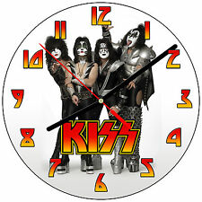 "8"" WALL CLOCK - KISS 1 Band Rock Music - Kitchen Office Bathroom Bar Bedroom"