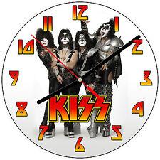 """8"""" WALL CLOCK - KISS 1 Band Rock Music - Kitchen Office Bathroom Bar Bedroom"""