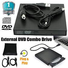 USB 2.0 External DVD/CD R/RW Combo Drive Player For PC Laptop MAC Netbook UK