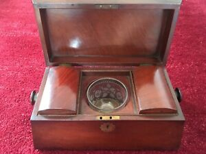 Antique Tea Caddy c1880- Mahogany- Stunning.