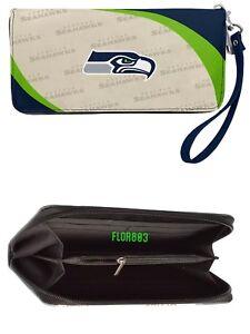 NFL Seattle Seahawks Curve Zip Organizer Women's Wallet