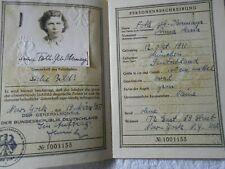 1957 German Passport BUNDESREPUBLIK DEUTSCHLAND REISEPASS  (87)