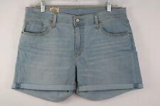 Levi Denim Shorts Size 14 / 32W Light Wash Blue Stretch