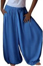FASHION BOHO POCKET HAREM PANT WIDE LEG LotusTraders MISSES PLUS SIZE X965