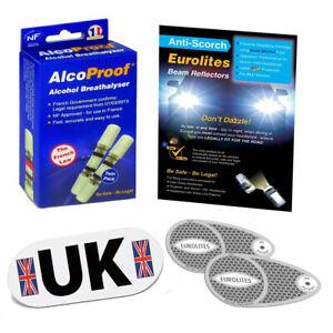 Euro Headlight Beam Deflectors Convertors Alcoproof Twin Magnetic UK Plate