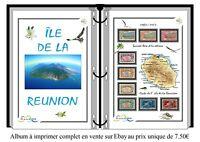 Album de timbres à imprimer LA RÉUNION