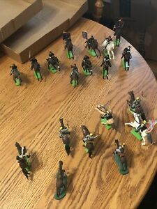 19 BRITAINS LTD 1971 DEETAIL Toy Army Calvary Soldiers US CIVIL WAR Confederate+