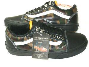 Vans Mens Old Skool MTE All Weather Skate Shoes Black Camouflage Size 12 NIB