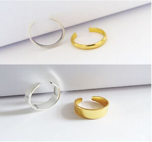 Men Women Band Ring Thin Silver Gold Thumb Toe Finger Knuckle Ring
