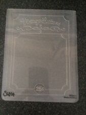 SIZZIX EMBOSSING FOLDER VINTAGE BUTTON CARD LARGE NEW FITS MOST MACHINES BUTTONS