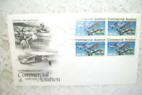 1976 First Day Issue Commercial Aviation Planes and Stamps