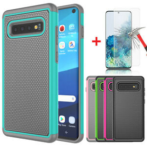 For Samsung Galaxy S10e/S10/S10 Plus Phone Case Hard Cover with Screen Protector