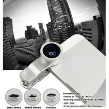 Universal 3in1 Clip-On Camera ZOOM Wide Angle Macro selfie Lens For iPhone 6 5S
