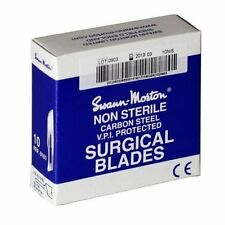 Genuine Swann Morton Non-Sterile Blue Box Scalpel Blades Surgical Blades New CE