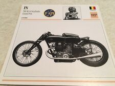 Carte moto FN 500 M14 bicylindre grand prix 1937 collection Atlas Motorcycle BE