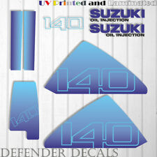 Suzuki 140 hp DT140 outboard engine decal sticker set kit reproduction 140HP