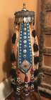 (B) Antique Turkmen Headdress Hat Ersari Silver Carnelian Afghanistan