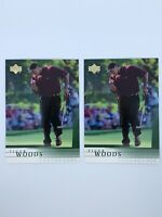 Tiger Woods 2001 Upper Deck Rookie PGA LOT (7) With Two Pristine #1 Rookie Cards