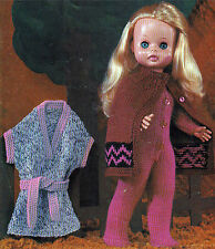 14, 16 & 18 INCH DOLL KNITTING PATTERN DRESS CATSUIT CAPE BY EMAIL (183)