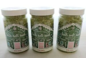 3 x Bath & Body Works Bath Salt Soak Vanilla Bean Noel 8 oz NEW! YUMMY SCENT ❤❤❤
