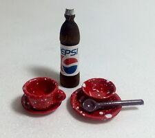 """Accessories"" For Littlest Pet Shop Set #1: 1Cup,1Bowl, 2Plates, 1 Spoon &1 Soda"