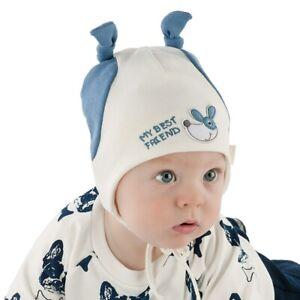 0-3 Monate Rich Baumwolle Jungen Mütze Binden Infant Kids Baby Boy NEU Hüte