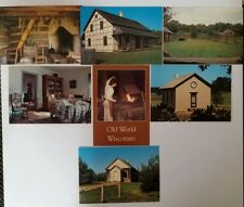 Old World Wisconsin Postcards Lot of 7