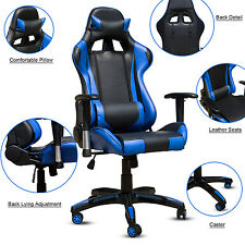 Executive Racing Gaming Chair Rake High Back Reclining PU Leather Chair