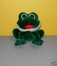 "Chubby 10"" RUSS Peepers Smooches Kissing Sounds Frog w/ Big Red Lips Plush"