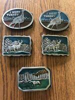 Moose Deer Horse Bears Wilderness Buckles